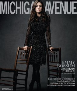 emmy rossum michigan avenue magazine sept 2011