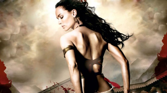 Lena Headey as Queen Gorgo of Sparta in the action-fantasy blockbuster film '300' (2007)